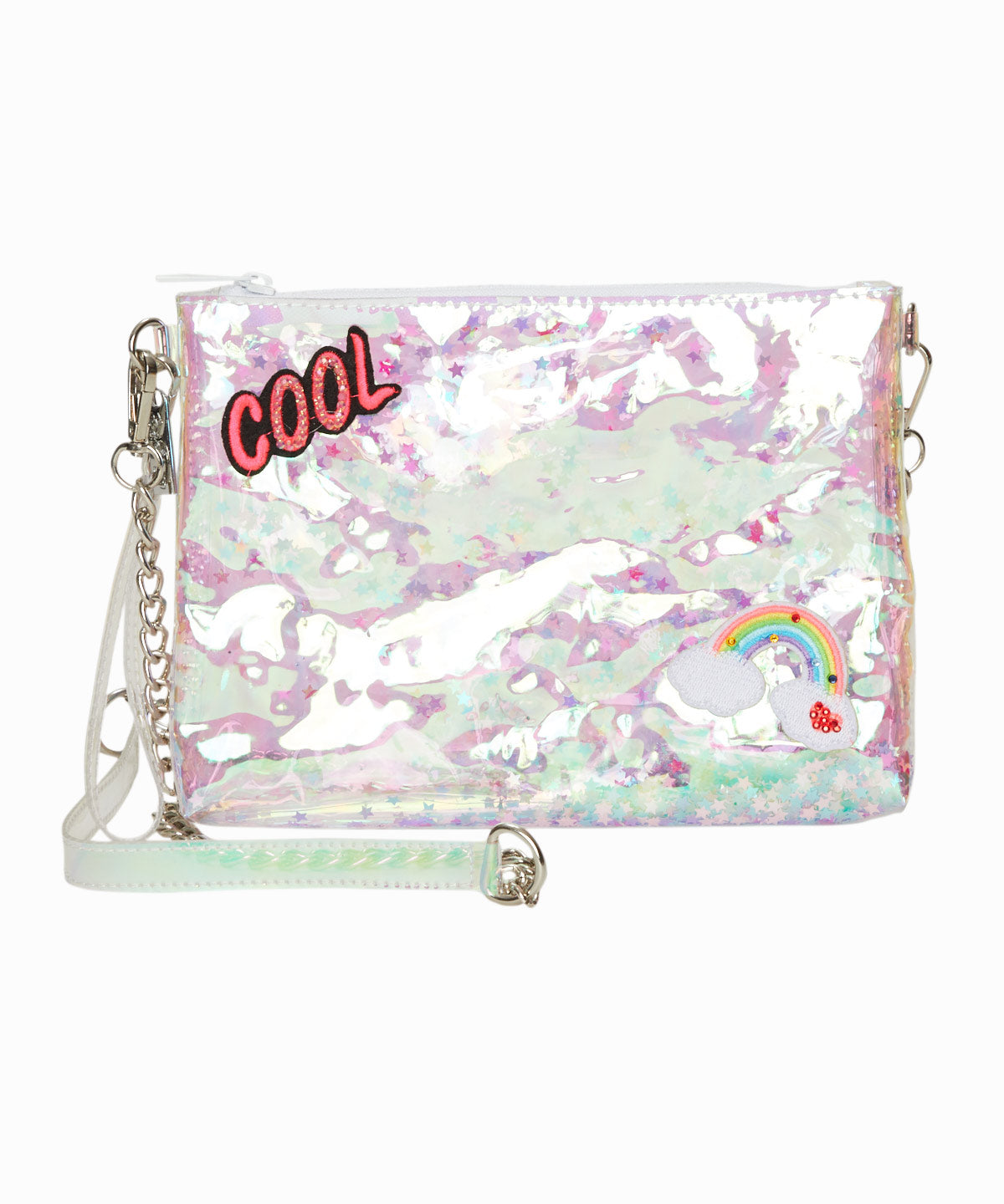 Exclusive Confetti Clear Large Shoulder Bag