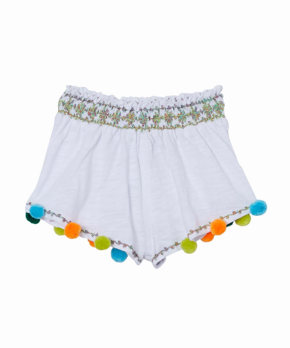 Basko Pom White Shorts