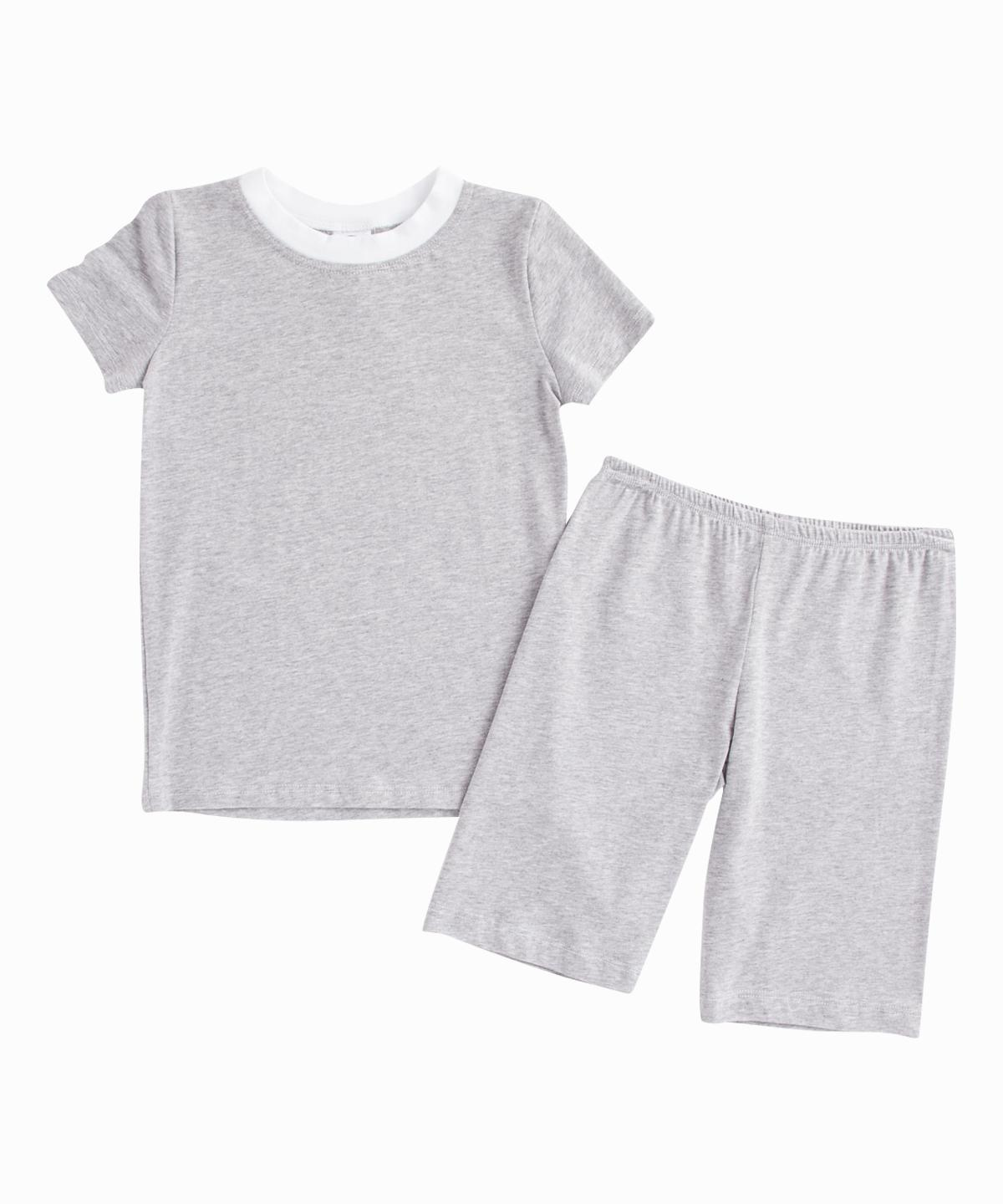 Grey Tee and Shorts PJ Set