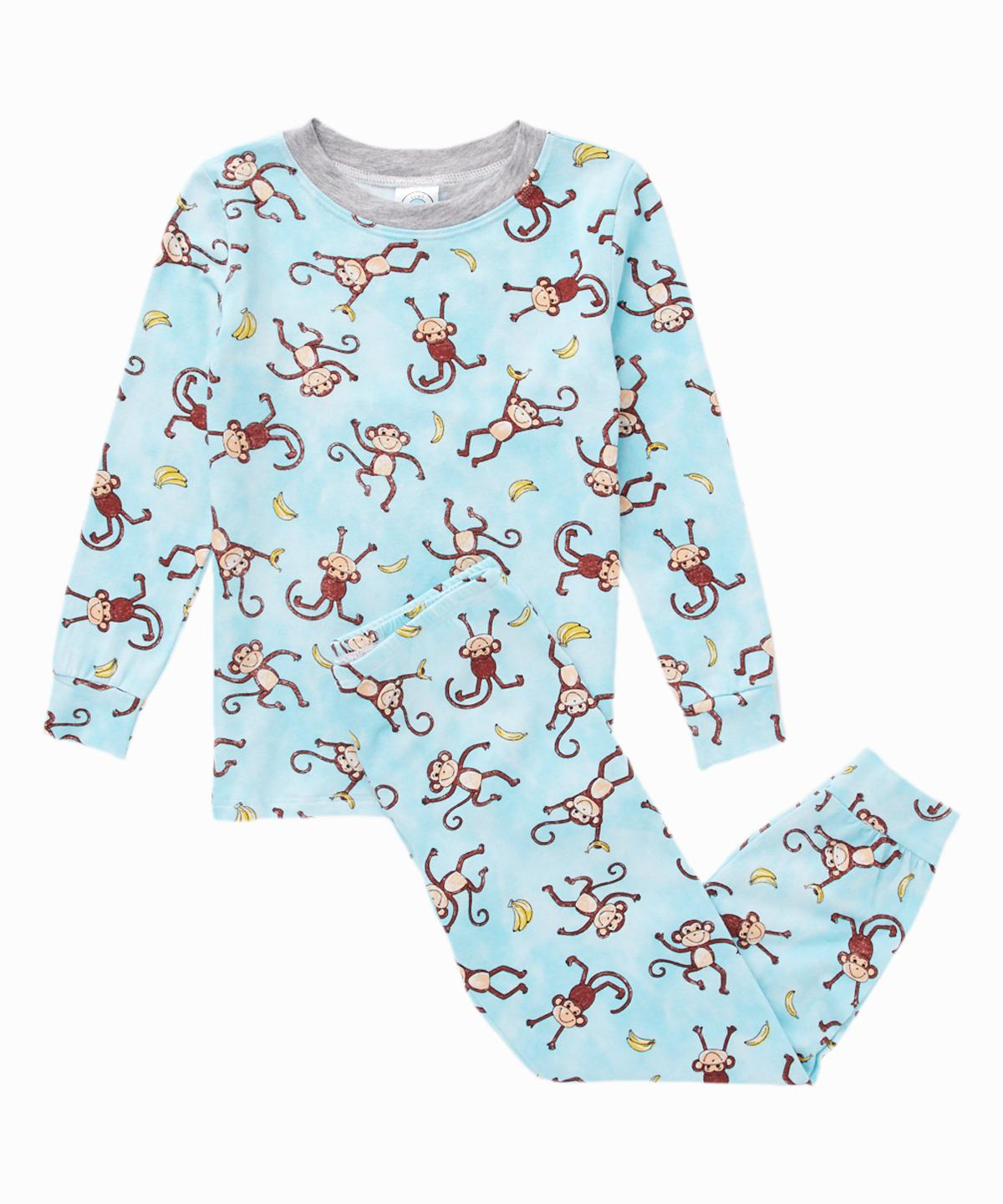 Monkey Print Pants PJ Set