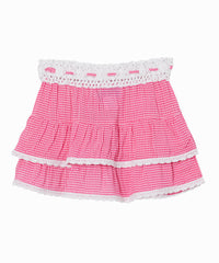 Bibi Gingham Check Skirt