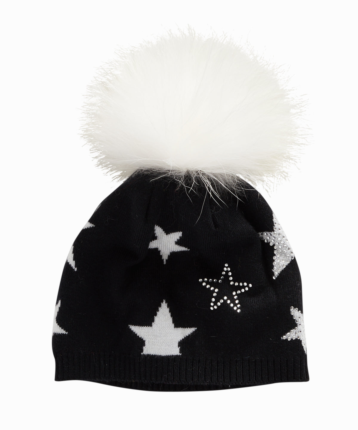 Black Star Studded Beanie
