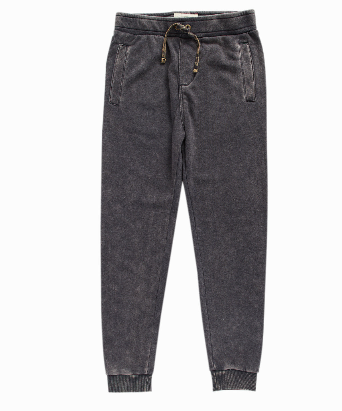 Mineral Wash Black Jogger Pants