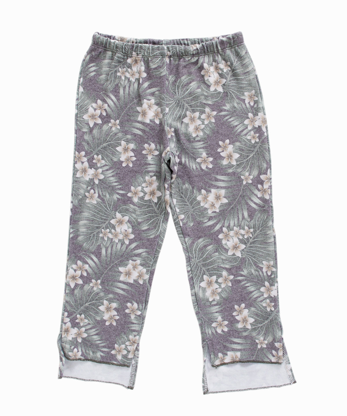Cropped Kick Flare Printed Sweatpants