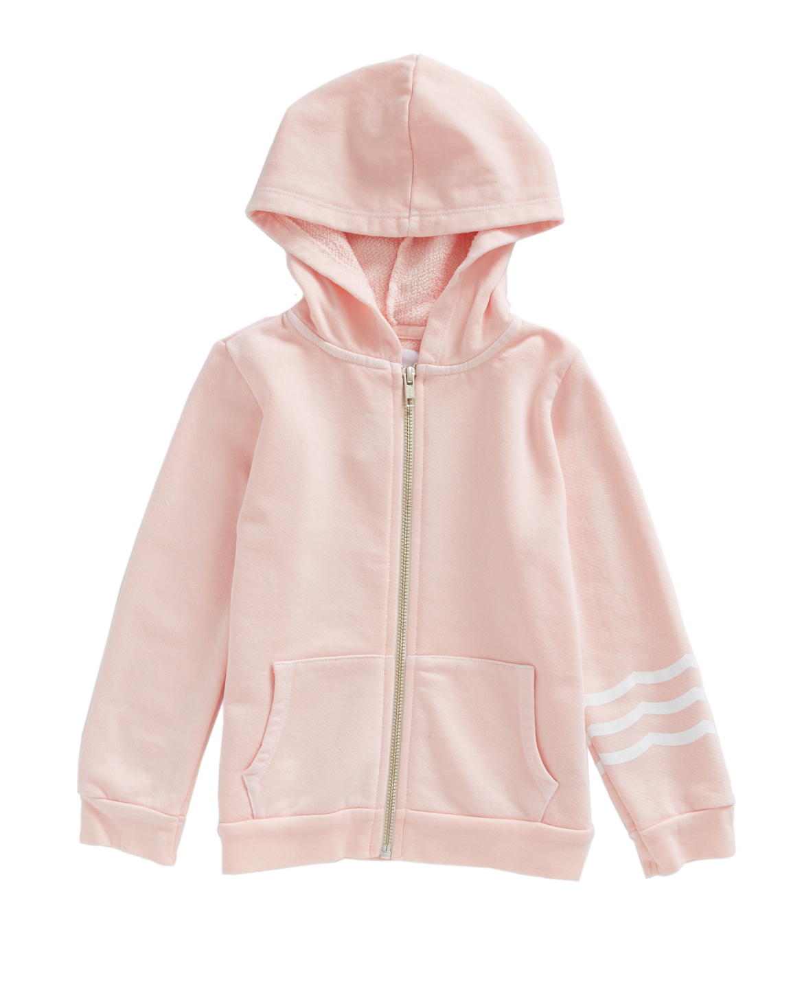 Waves Blush Zip-Up Hooded Sweatshirt