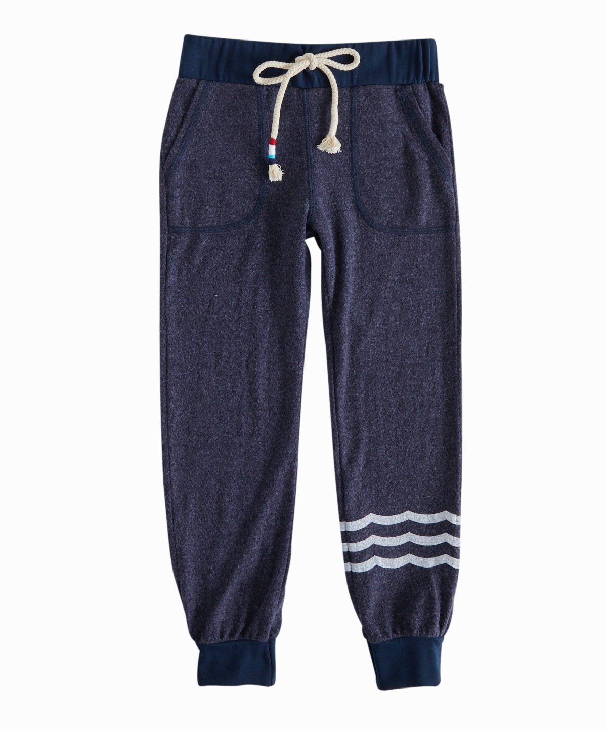 Hacci Waves Navy Jogger Sweatpants