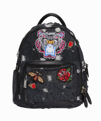 Exclusive Patches Distressed Mini Backpack