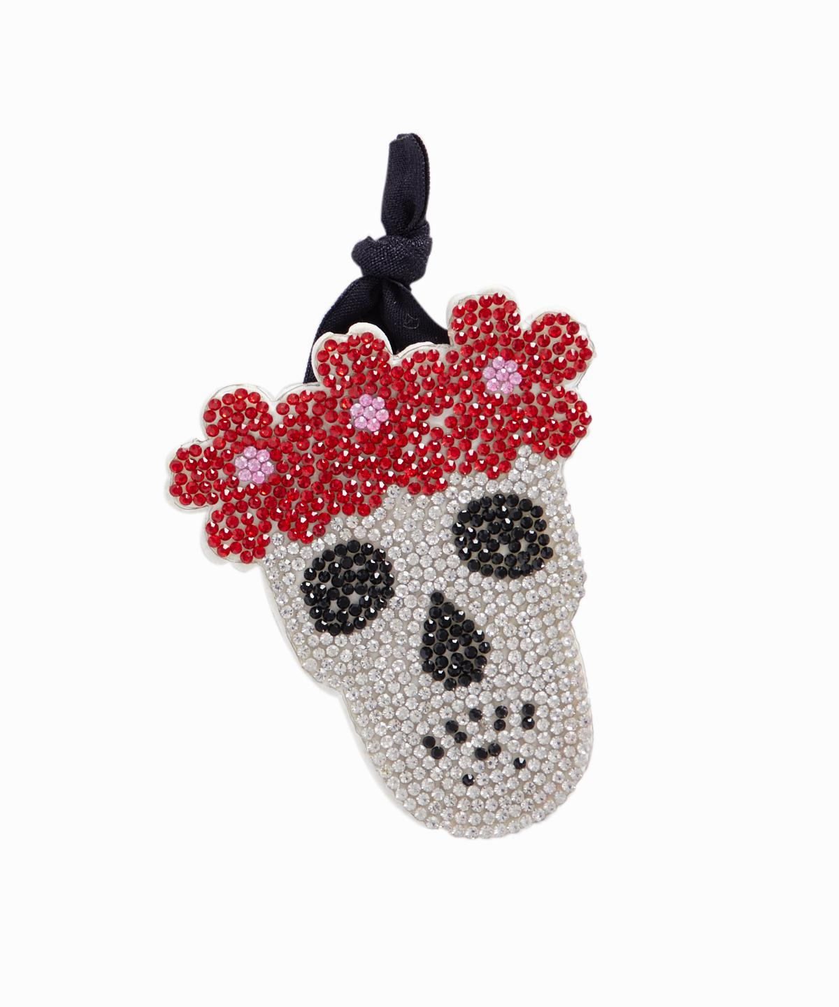 Exclusive Crystal Skull Ponytail Holder