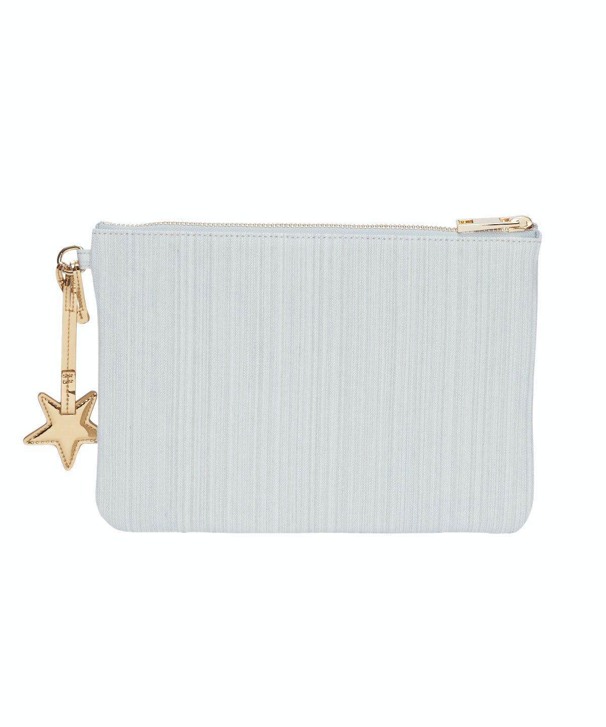 Exclusive Denim Star Charm Flat Pouch