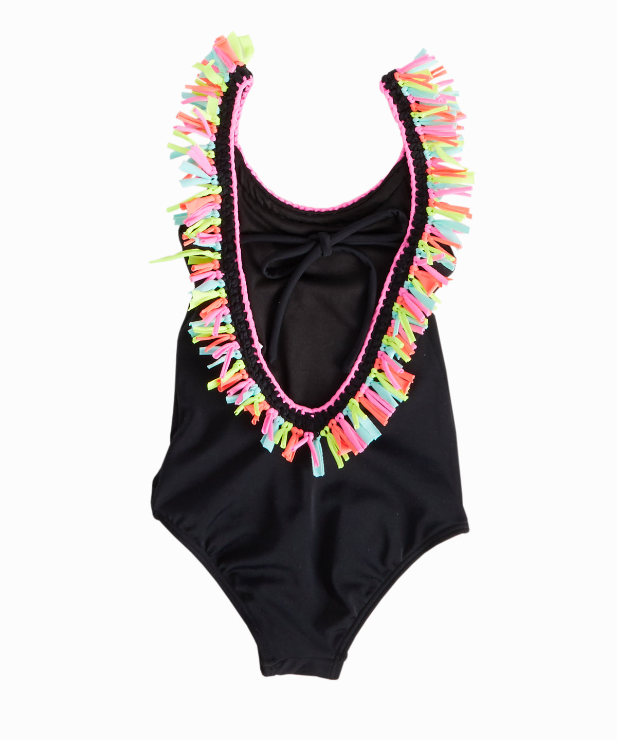 Fringe U-Back One-Piece Swimsuit