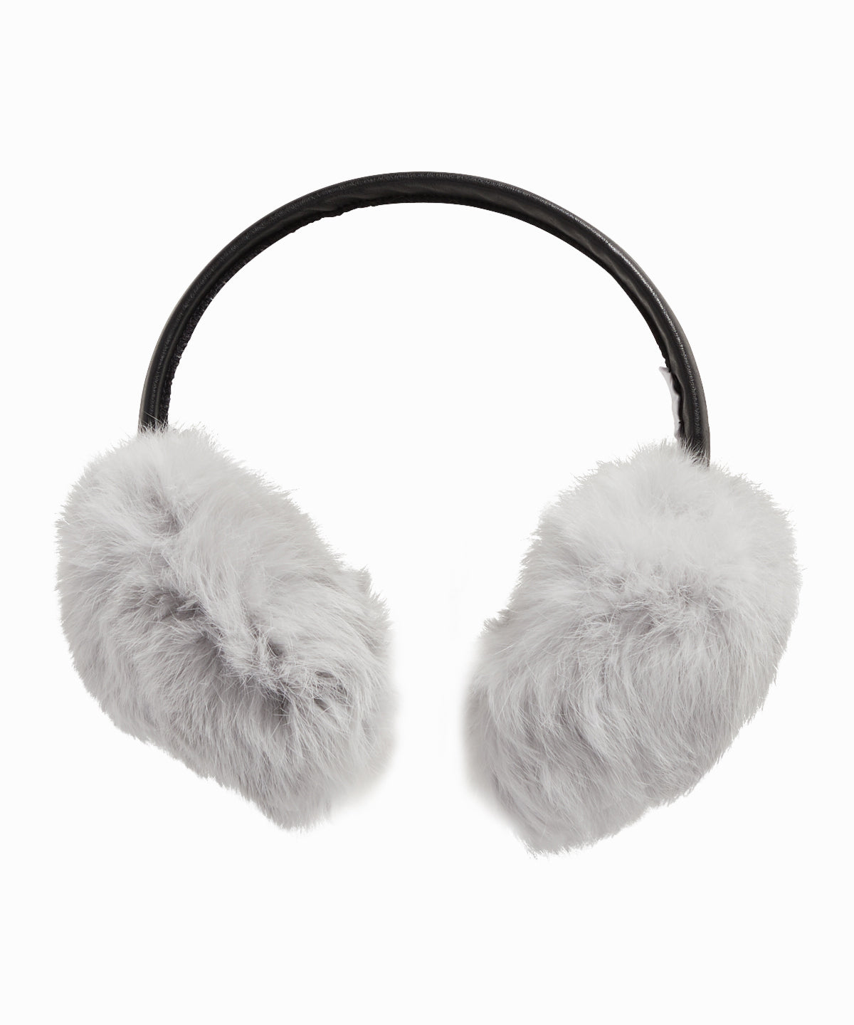Silver Rabbit Fur Ear Muffs