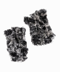 Thumbhole Insert Fingerless Fur Gloves