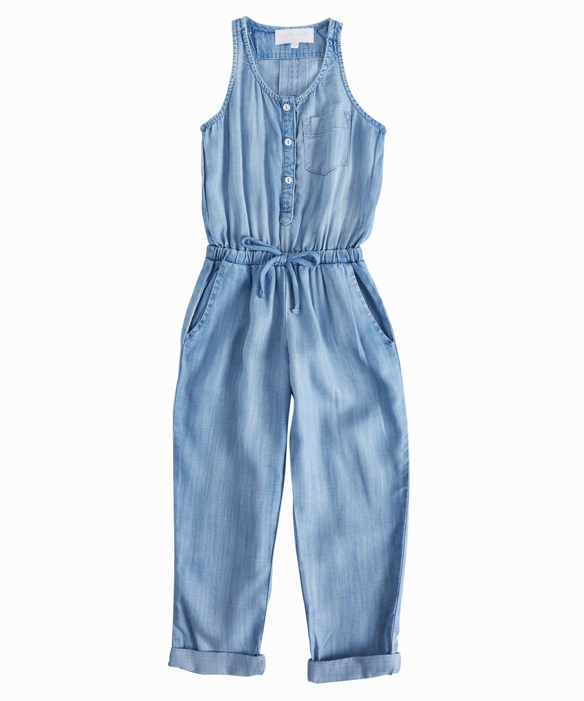 Racerback Chambray Jumpsuit