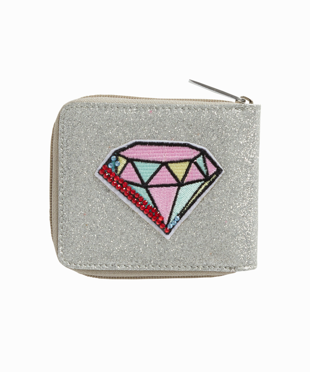 Diamond Patch Wraparound Zippered Wallet