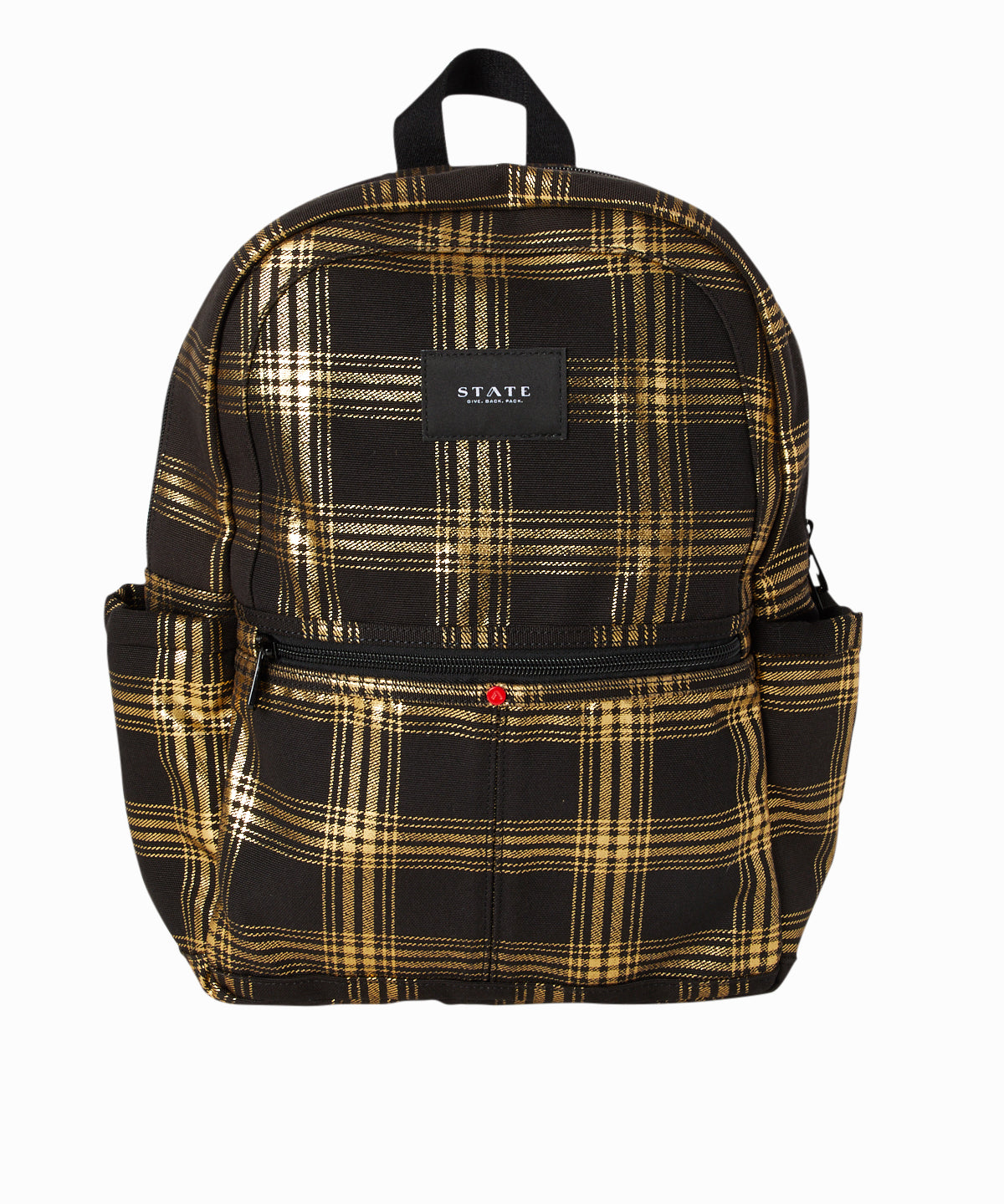 Kane Plaid Metallic Backpack