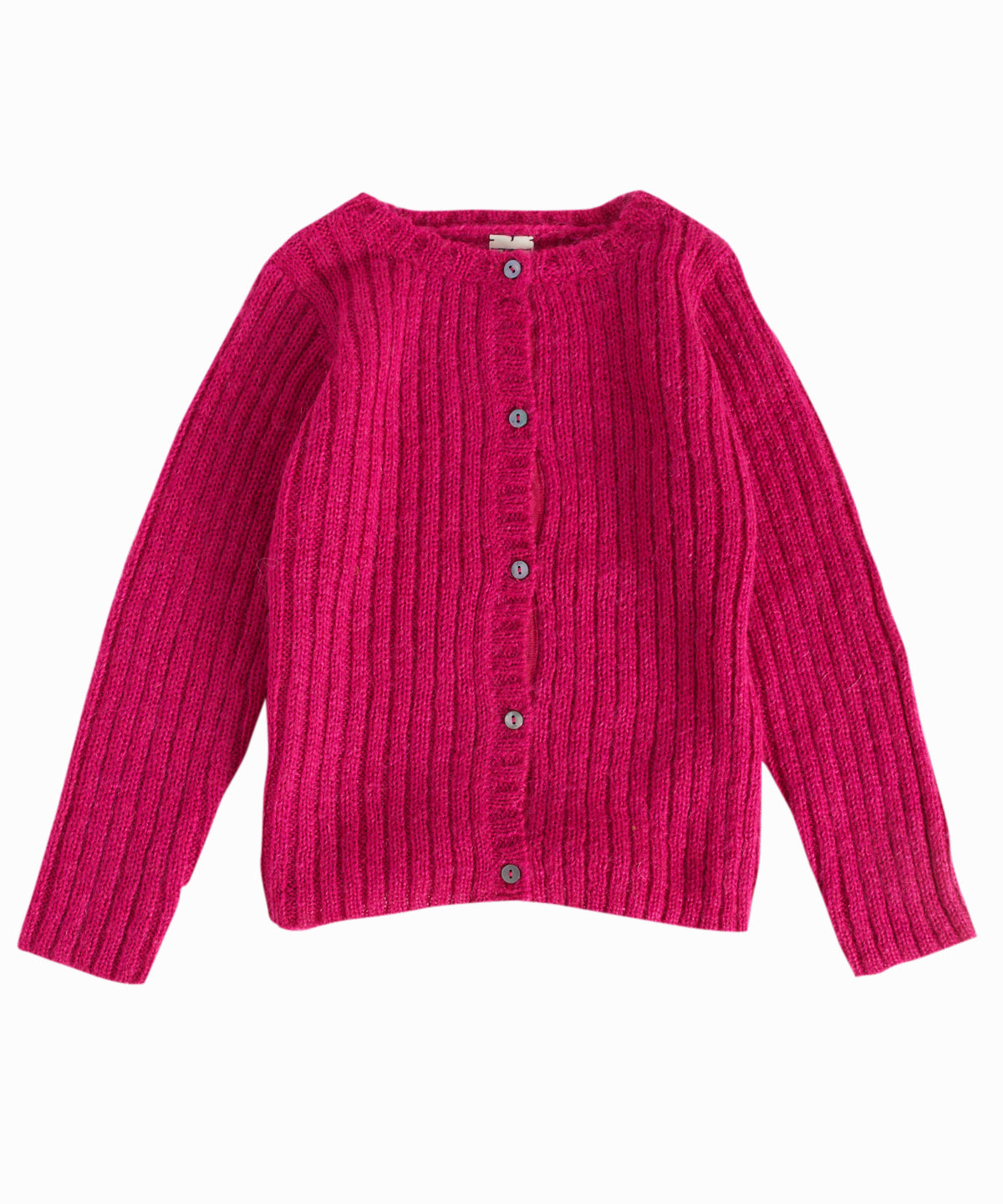 Shocking Rose Cable-Knit Cardigan