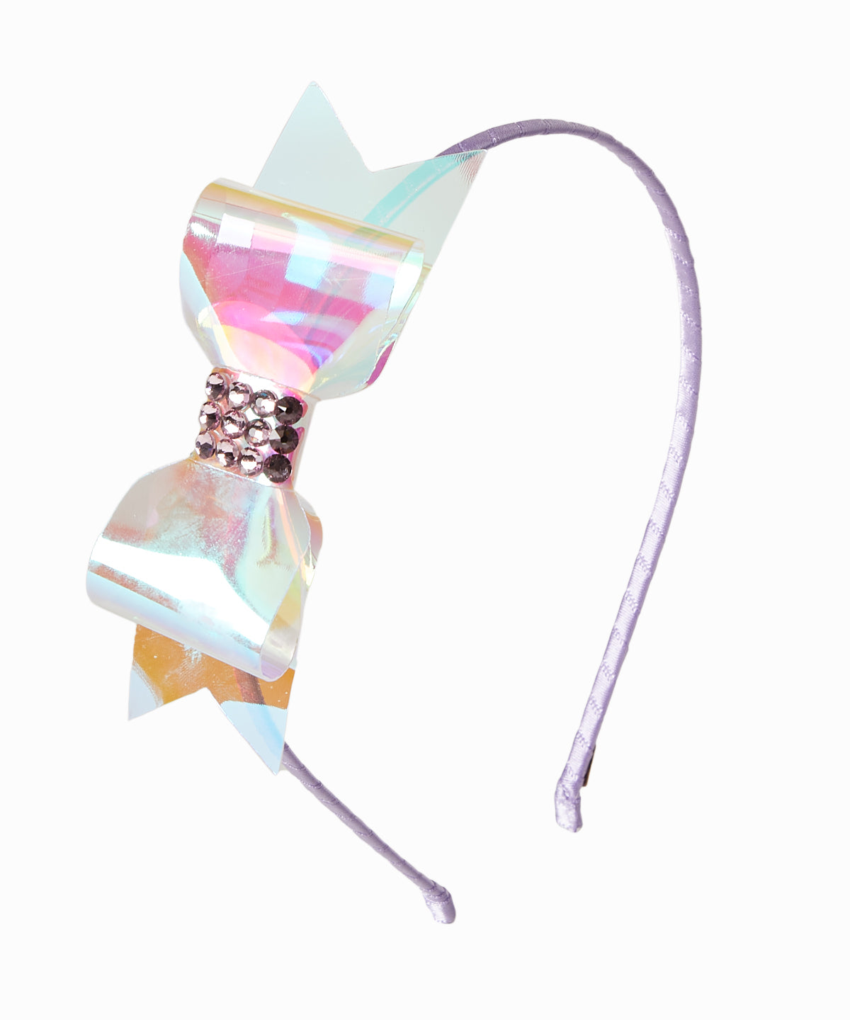 Holographic Bow Purple Headband