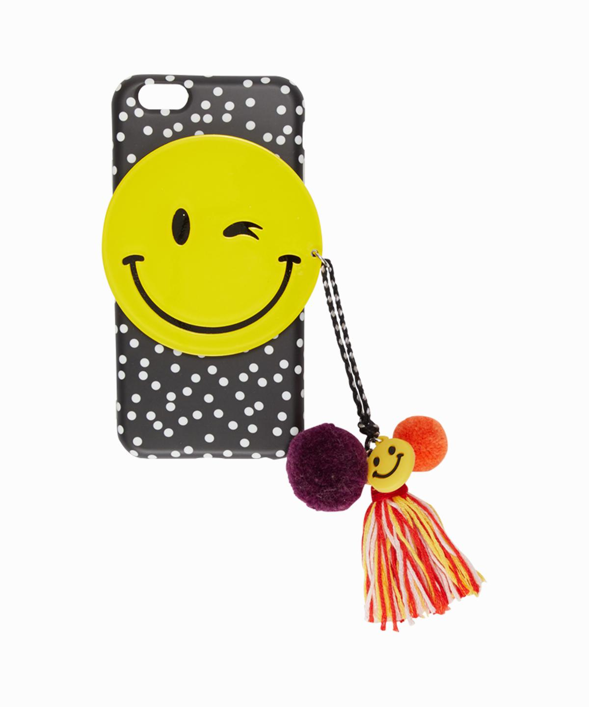 Dot Pattern Winking Smiley Face iPhone 6/6S Case