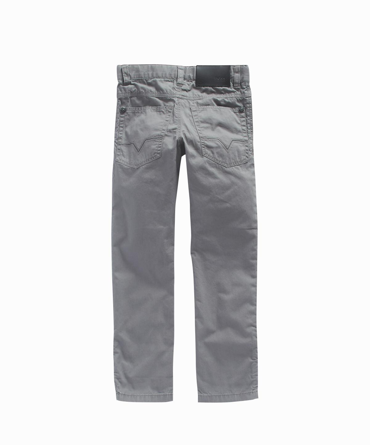 Five-Pocket Grey Trousers