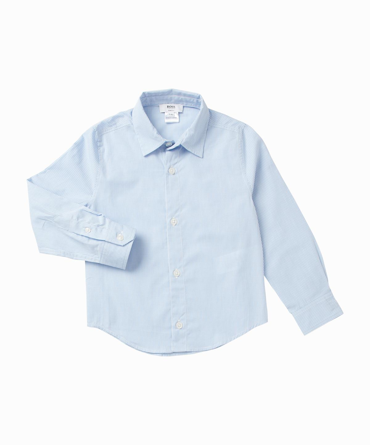 Light Blue Gingham Shirt
