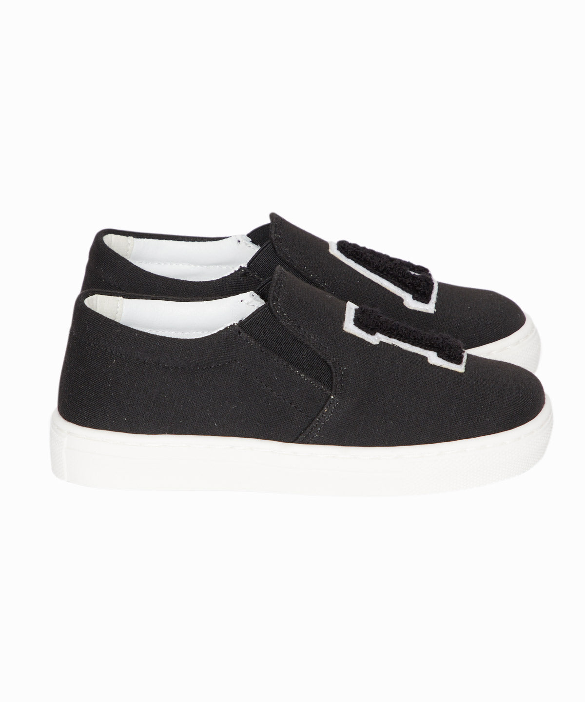 LA Black Jersey Slip-On Sneakers