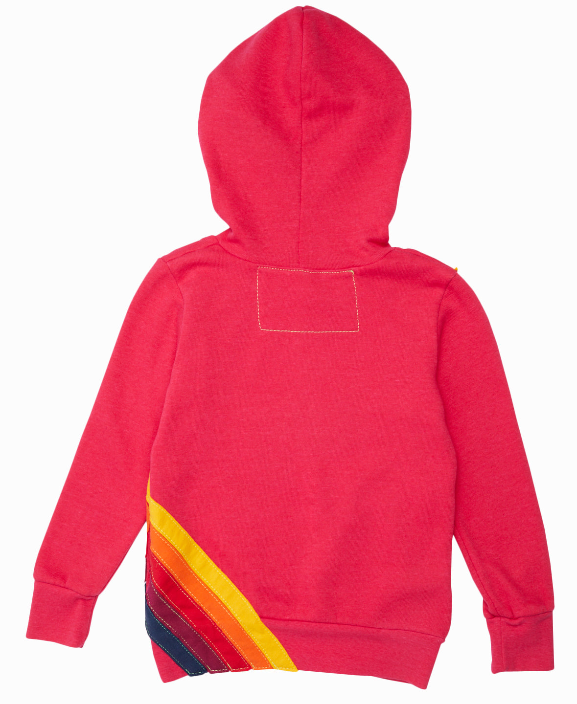 Pink Striped Hooded Pullover Sweatshirt