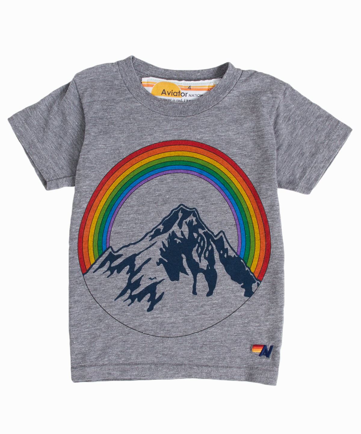 Grey Rainbow Mountain Tee