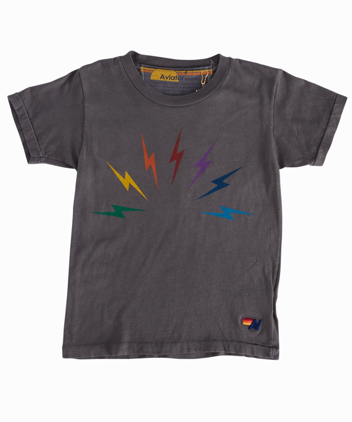 Rainbow Bolt Grey Tee