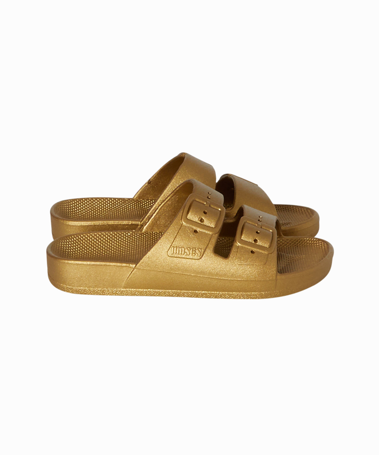 Basic Two Strap Gold Sandals