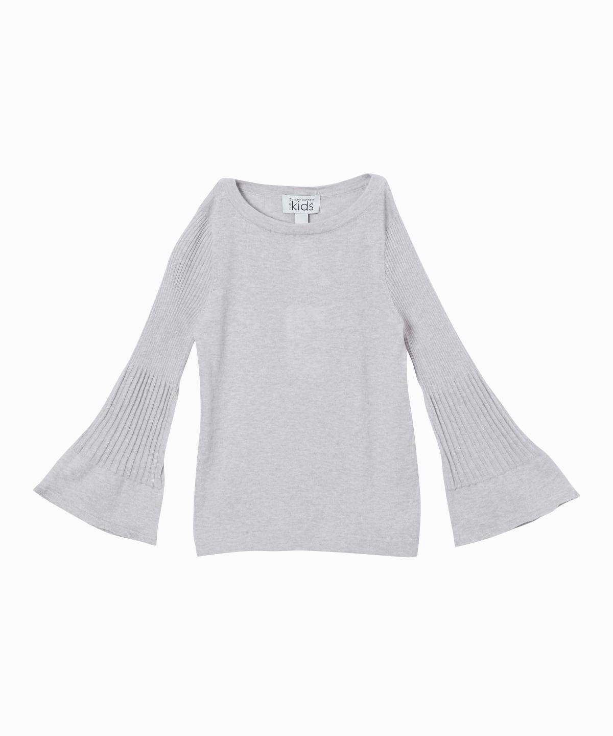 Ribbed Bell Sleeve Knit Sweater