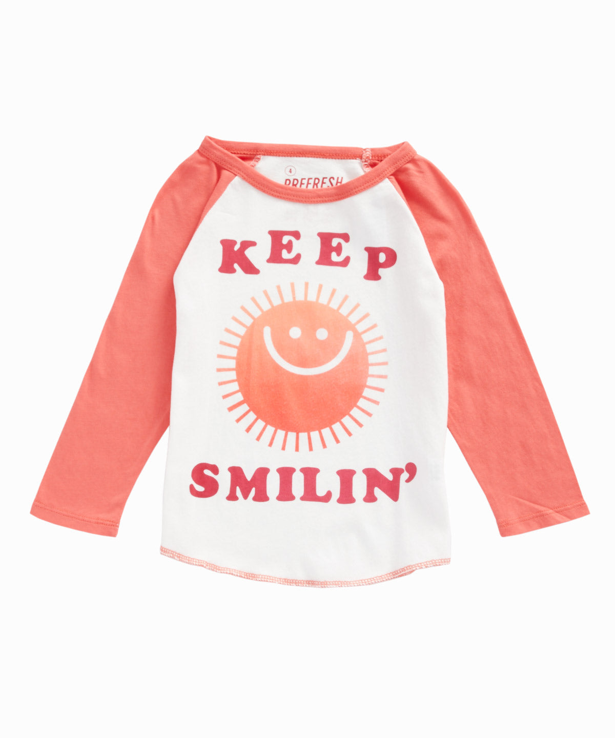 Keep Smilin' Raglan Tee