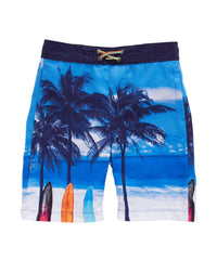 Surfs Up Print Swim Shorts