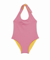 Raecaen Reversible Pink/Yellow One-Piece Swimsuit
