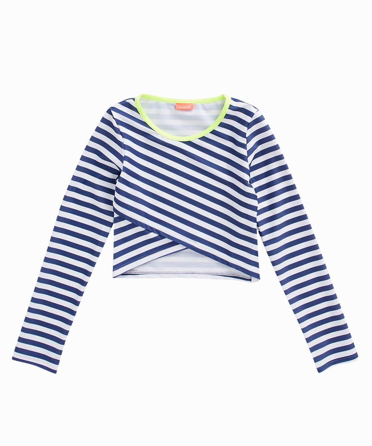 Cropped Striped Rashguard