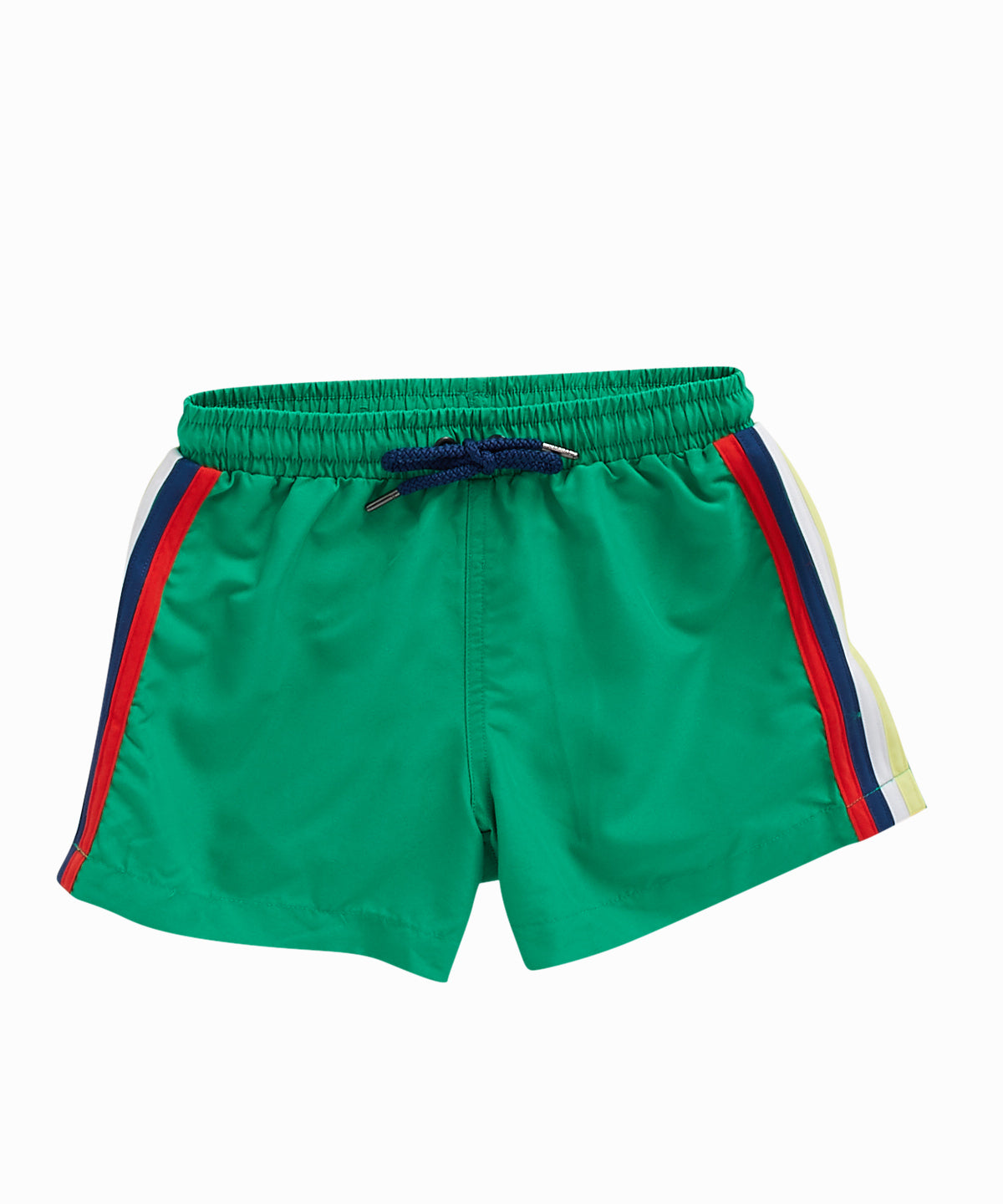 Side Stripe Green Swim Shorts