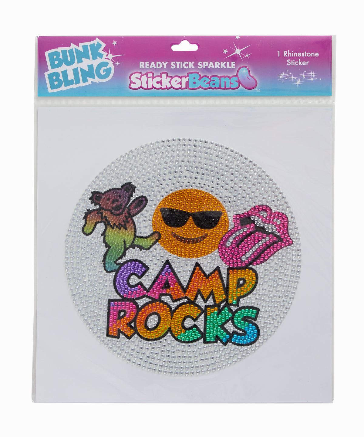 Rhinestone Camp Rocks XL Wall Sticker