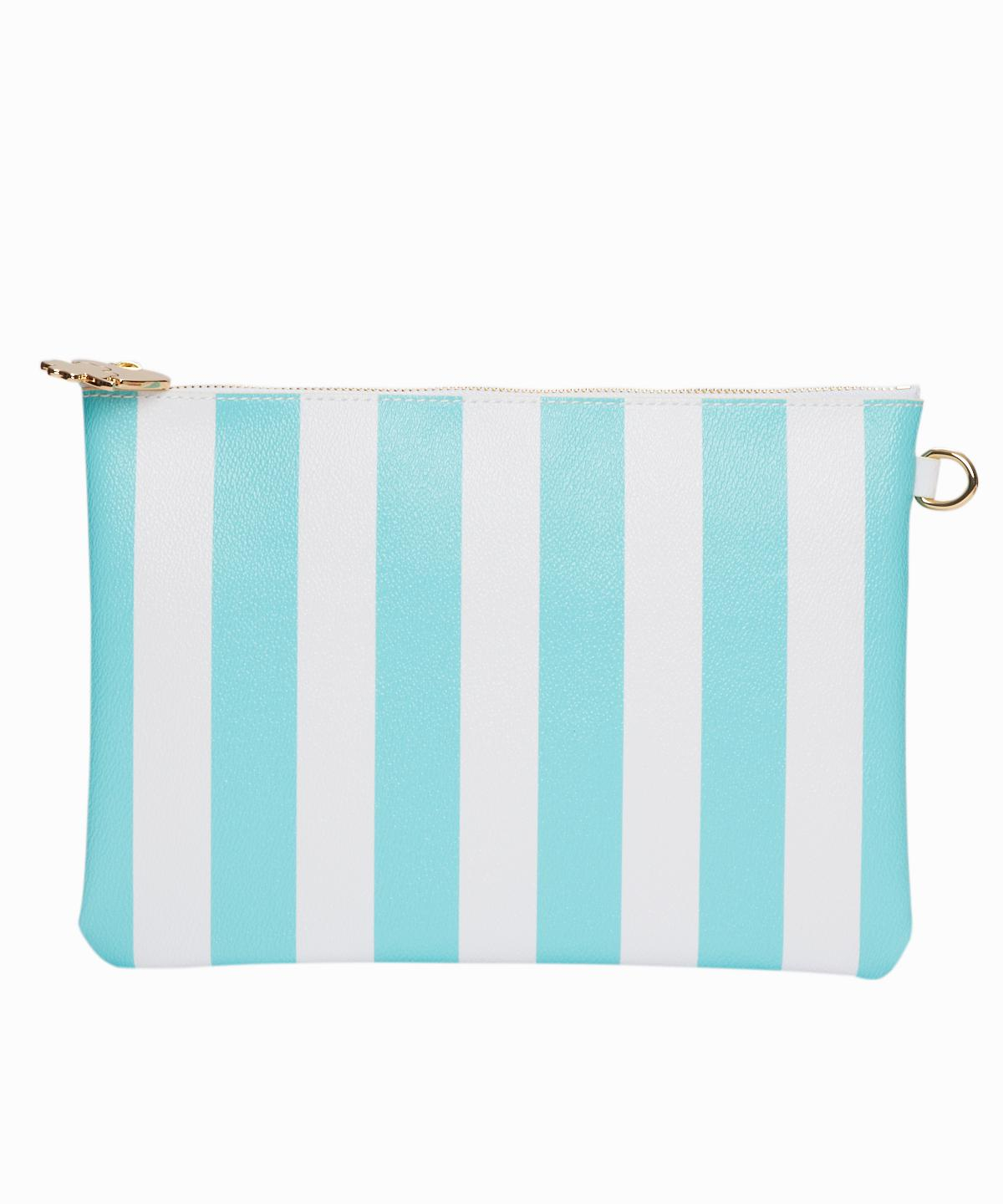 Turquoise Stripes Pouch
