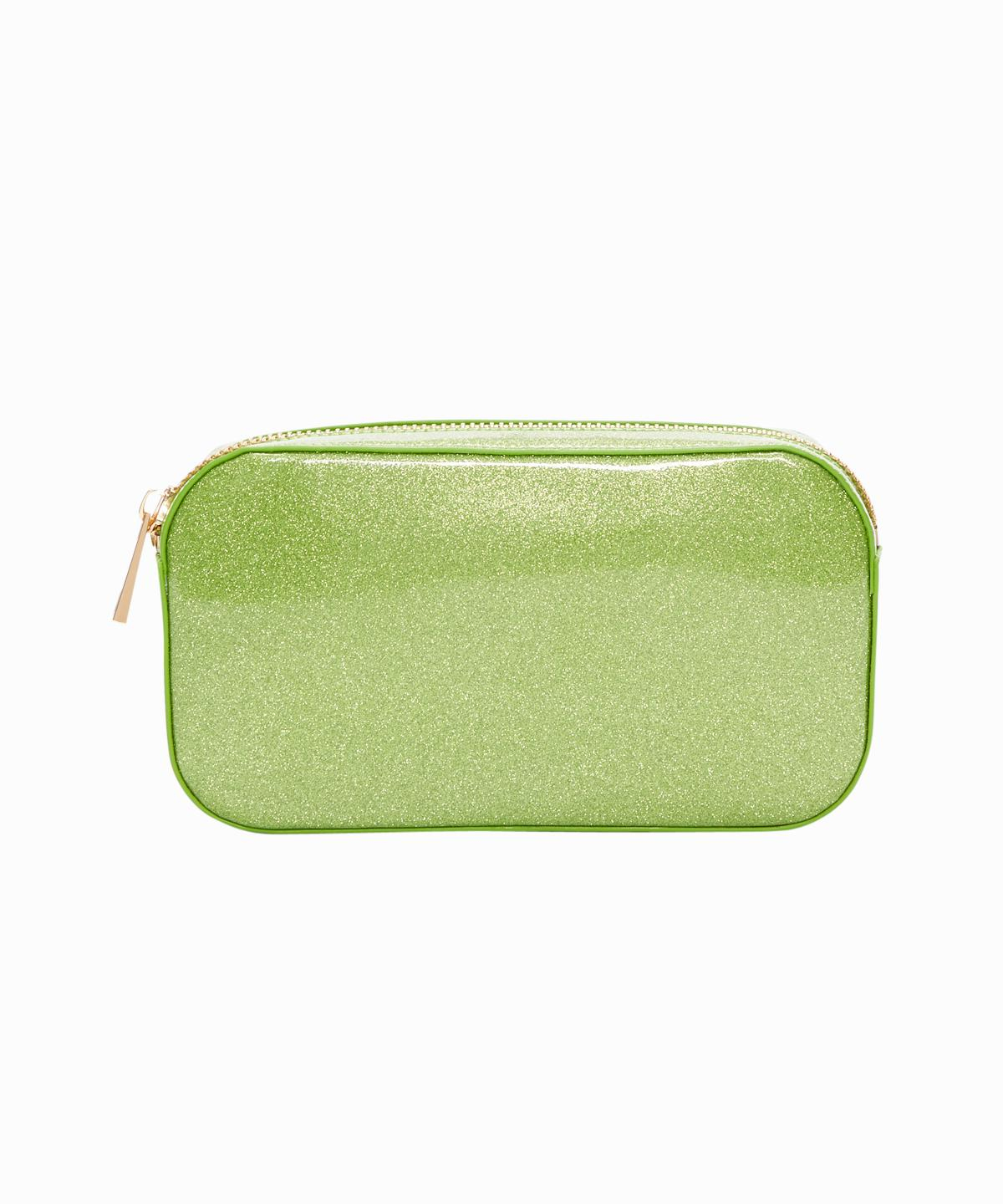 Exclusive Green Glitter Small Zippered Pouch