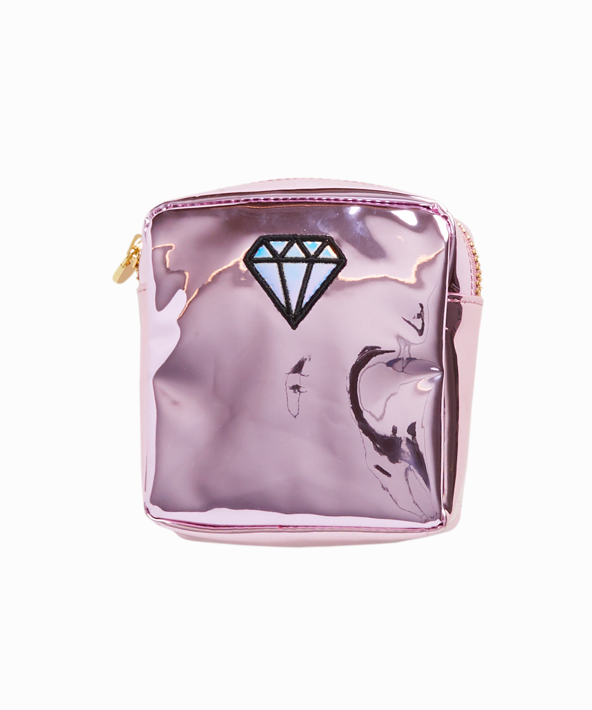 Diamond Patch Patent Leather Mini Pouch