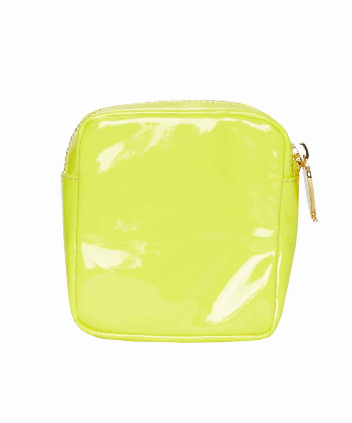 Yellow Patent Leather Mini Pouch