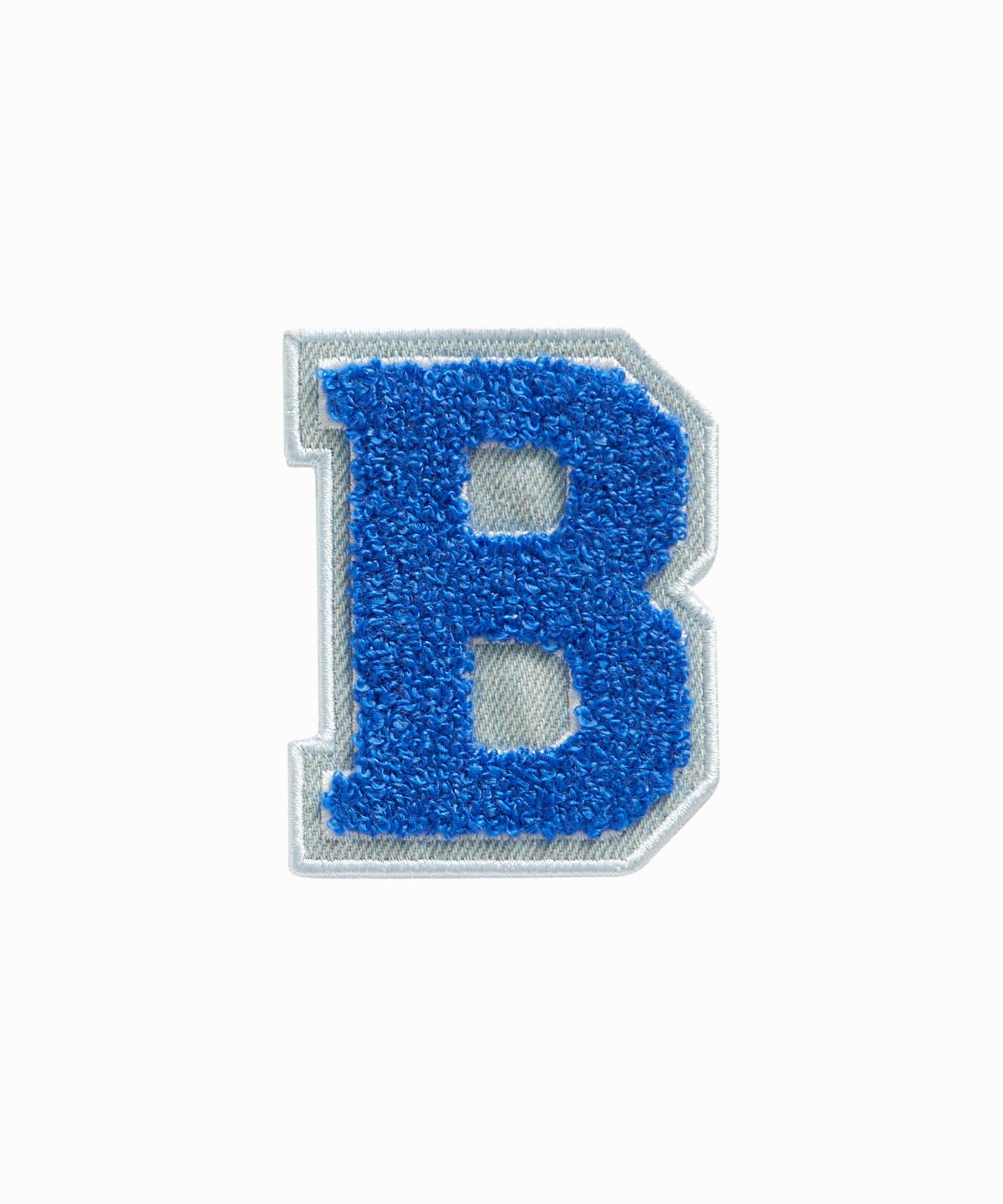 Blue Varsity Letter B Sticker Patch