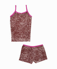 Cheetah Print Cami/Shorts Pajama Set