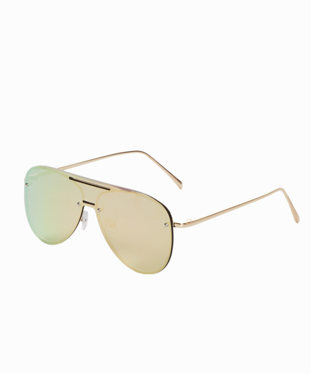 Framless Gold Lens Sunglasses