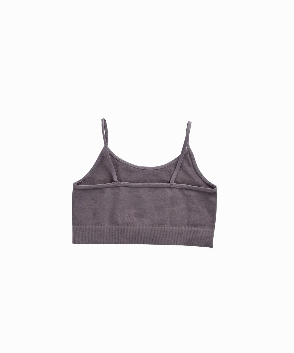 Exclusive Solid Grey Cami Bra