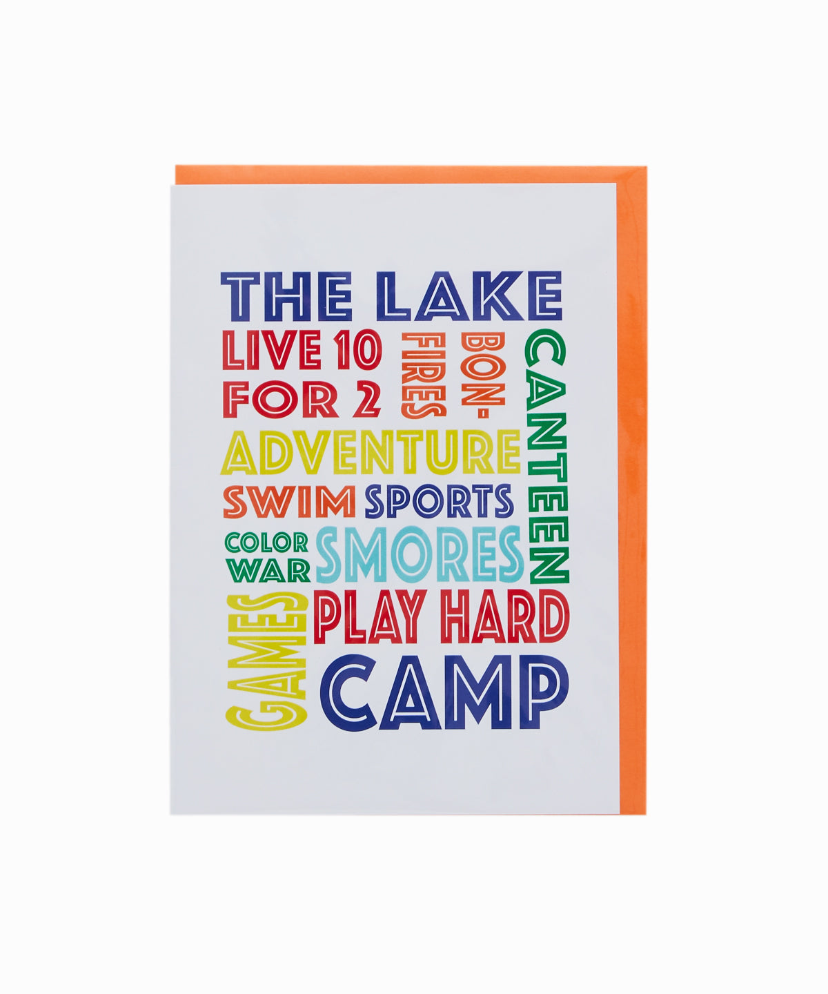 The Camp Lake Greeting Card
