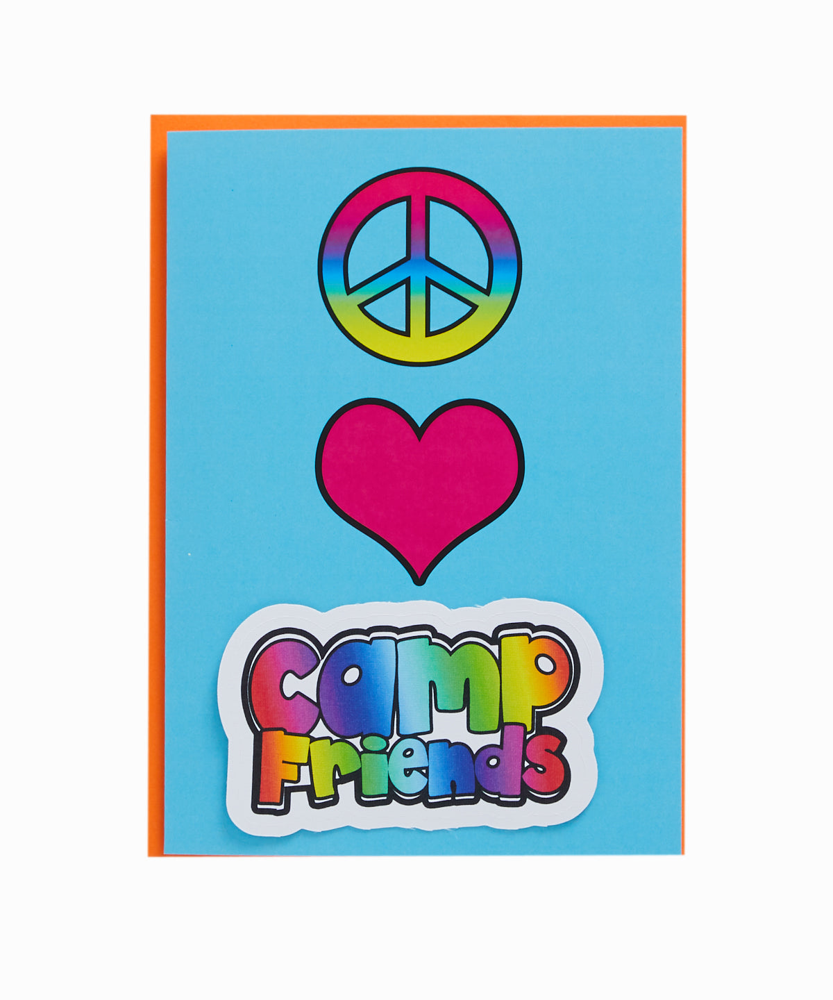 Peace Love Camp Greeting Card
