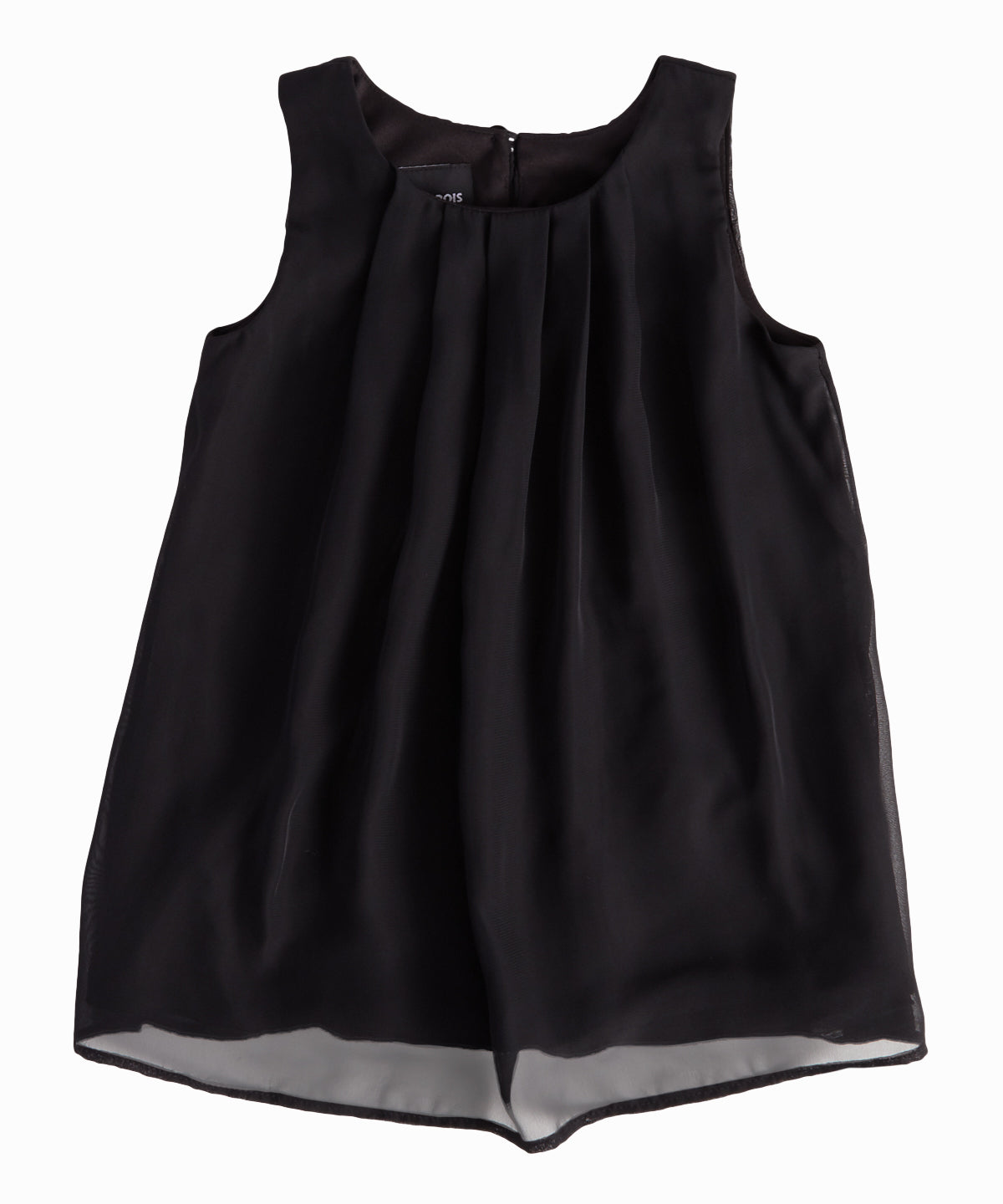 Sleeveless Chiffon Black Top