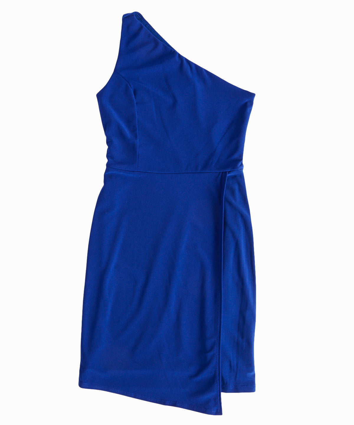 One-Shoulder Cobalt Dress