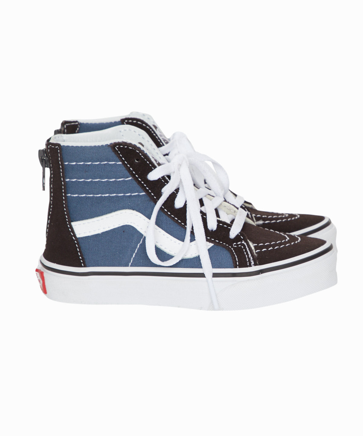SK8- Hi Top Zip Black & Blue Sneakers