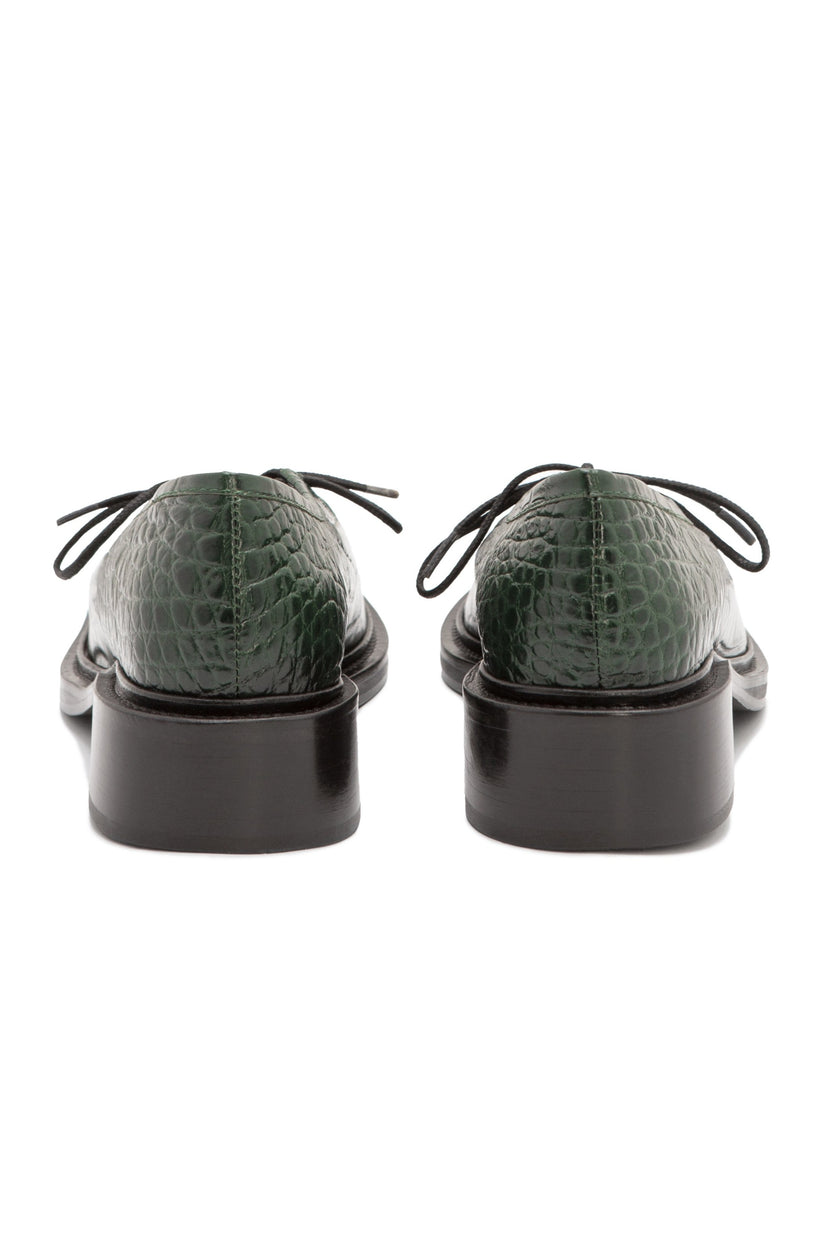 fabiana / jungle green embossed croc